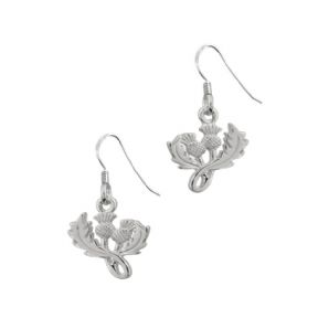 Scottish Thistle Silver Drop Earrings 0637